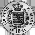 1831 Kreuzer Stück Silber Münze Rückseite