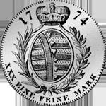 1774 Taler Fuß 15 Reichs 1/2 Silber Münze