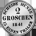 1841 Silber Münze Rückseite Groschen Stück 2