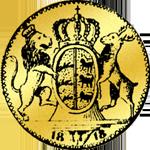 Gold Münze Rückseite Dukaten 1818