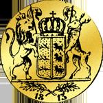 Rückseite Gold Münze Dukaten 1813