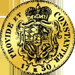 1750 Dukaten Gold Münze Rückseite