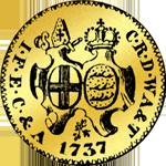 Münze Gold Dukaten 1737