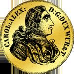 Carolin á Gold Gulden Münze 1735