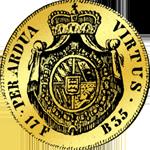 1735 Gulden Gold Münze Carolin á