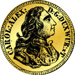 1/2 Carolin 1735 Gold Münze