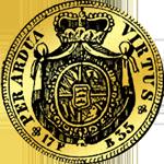 1735 1/2 Carolin Gold Münze Rückseite