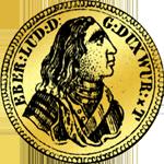 1/4 Carol 1733 Gold Münze