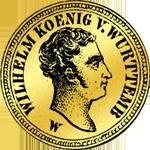 10 Gulden Stück Gold Münze 1824
