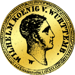 5 Gulden Stück Gold Münze 1825