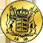 Rückseite Münze Gold Friedrichsdór á 11 Floren 1810