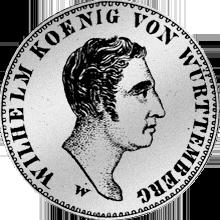 Gulden Stück Silber Münze 1824