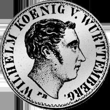 Silber Münze Gulden Stück 1823