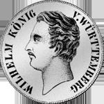 2 Gulden Stück Silber Münze 1845