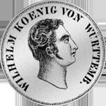 2 Gulden Stück Silber Münze 1825