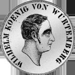 Silber Münze 2 Gulden Stück 1824