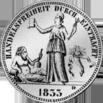 Kronen Taler Silber Münze Rückseite 1833