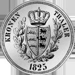Rückseite Silber Münze Kronen Taler 1825