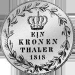 Münze Taler Silber 1818 Kronen