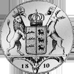 Kronen Taler Silber Münze 1810