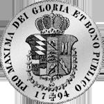 Rückseite Konventions Taler Spezies Silber Münze 1794