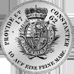 Rückseite Silber Konventions Taler Spezies Münze 1762 Rückseite