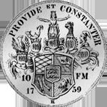 Münze Silber Konventions Spezies Taler 1759 Rückseite