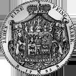 1785 Spezies Taler Silber Münze Konventions Hohenlohe Rückseite
