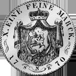 1770 Spezies Taler Silber Münze Hohenlohe Konventions Rückseite