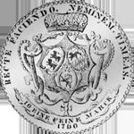 1760 Spezies Taler Silber Münze Konventions Hohenlohe Rückseite