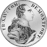 Montfort Konventions Spezies Taler Silber Münze 1759
