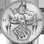 1759 Spezies Taler Münze Konventions Silber Montfort Rückseite