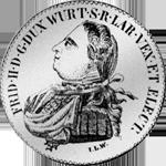 Gulden Stück Münze Silber 1805
