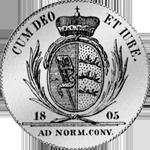 1805 Gulden Stück Münze Silber Rückseite
