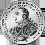 Hohenlohe 1/2 Gulden Stück Münze Silber 1760