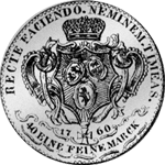 1760 Rückseite Hohenlohe 1/2 Gulden Stück Münze Silber