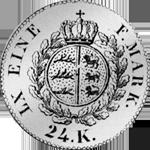 6 Batzen Stück Silber Münze Rückseite 1824