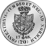 1798 Silber Münze 6 Batzen Stück Rückseite