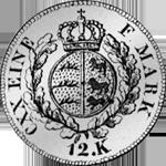 1825 Stück Batzen Silber Münze Rückseite 3