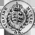 1825 6 Kreuzer Stück Münze Silber