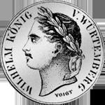 Gulden Stück Silber Münze 1841