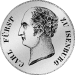 1811 Isenburg Taler Fürst Silber Münze