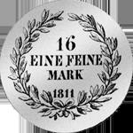 1811 Münze Silber Isenburg Taler Fürst Rückseite
