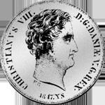 Rigsbanks Taler Silber Münze 1847