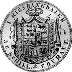 1847 Rigsbanks Taler Silber Münze Rückseite