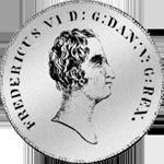 Rigsbanks Taler Münze Silber 1826