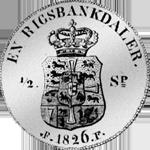 1826 Silber Münze Rigsbanks Taler