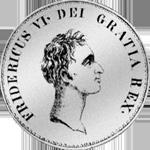 1813 Silber Münze Rigsbanks Taler