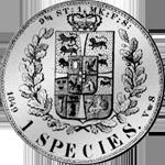 1849 Spezies Reichstaler Silber Münze Rückseite