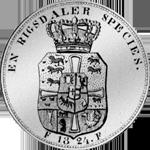 1824 Rückseite Reichstaler Spezies Münze Silber
